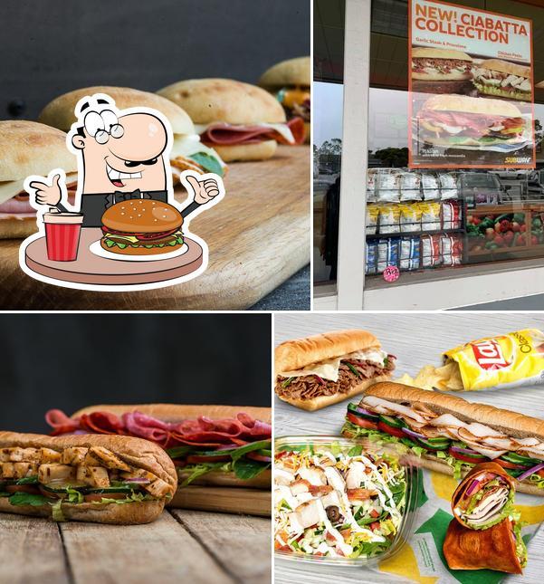 Try out a burger at SUBWAY