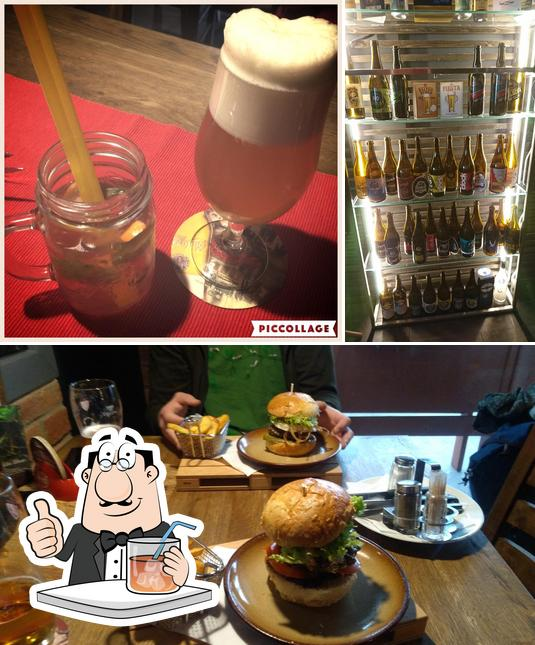 Among different things one can find drink and burger at KROSS HOUSE