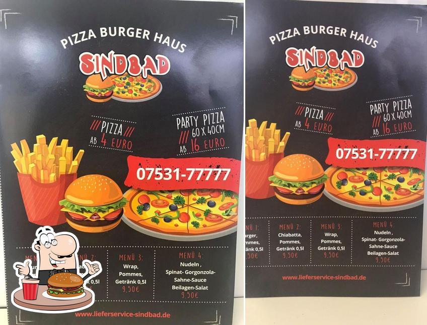 Holt einen Burger bei Lieferservice Sindbad - Pizza Burger Haus