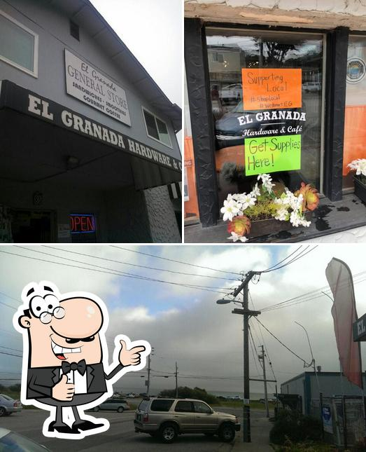 Look at the picture of EL Granada Hardware & Cafe