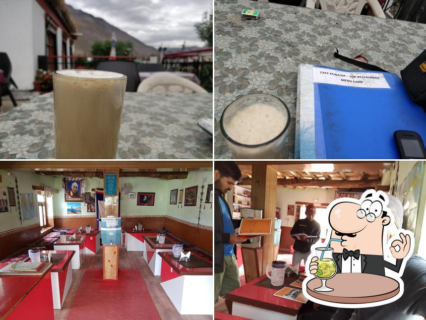 The picture of drink and interior at Cafe Kunzom top