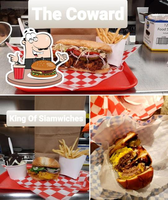 Try out a burger at Dipped & Debris