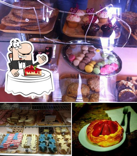 Moonside Bakery & Cafe provides a number of desserts