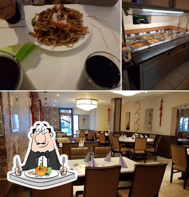 Еда и внутреннее оформление в Kim Wok