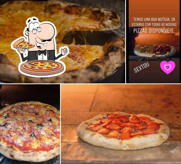 Escolha pizza no Oliva D'oro