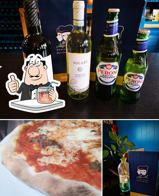 Take a look at the photo displaying drink and pizza at Mascalzone