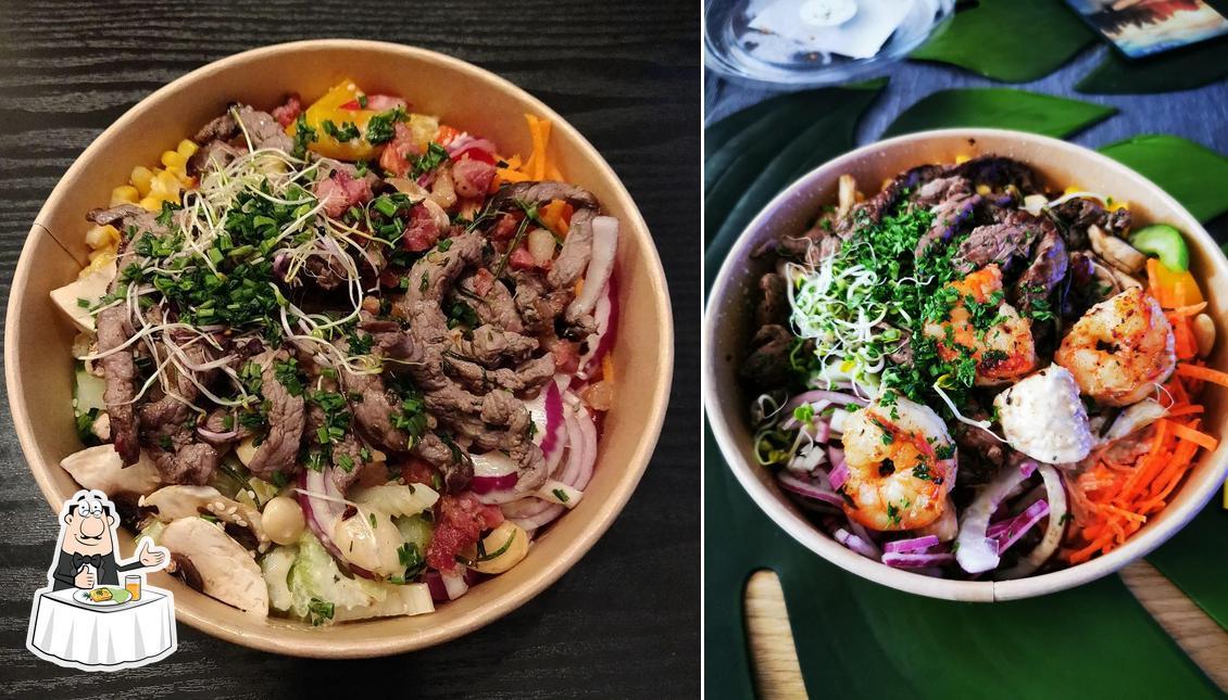 Gerichte im Blattschneider Salatbar