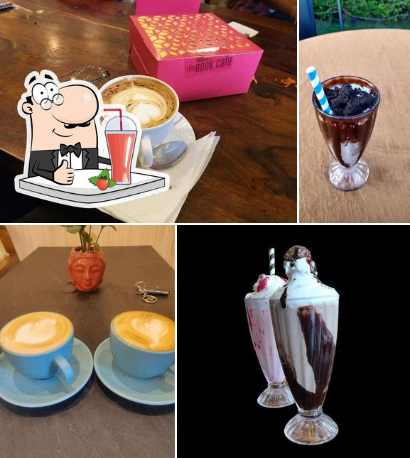 Enjoy a drink at Book Cafe