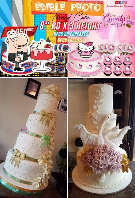 Look at this image of Crumbs Cake Art