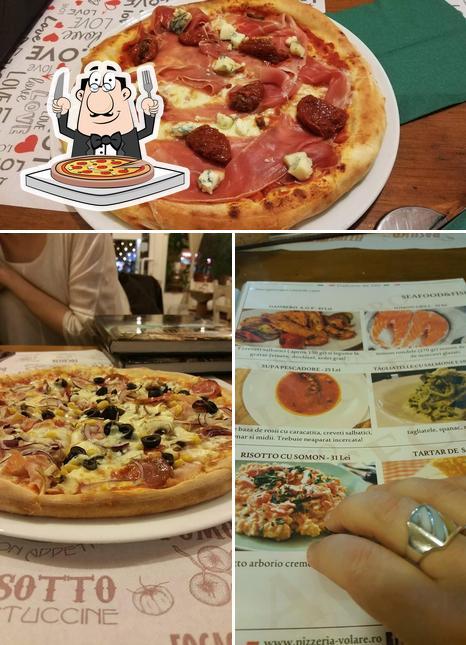 Order pizza at Pizzeria Volare