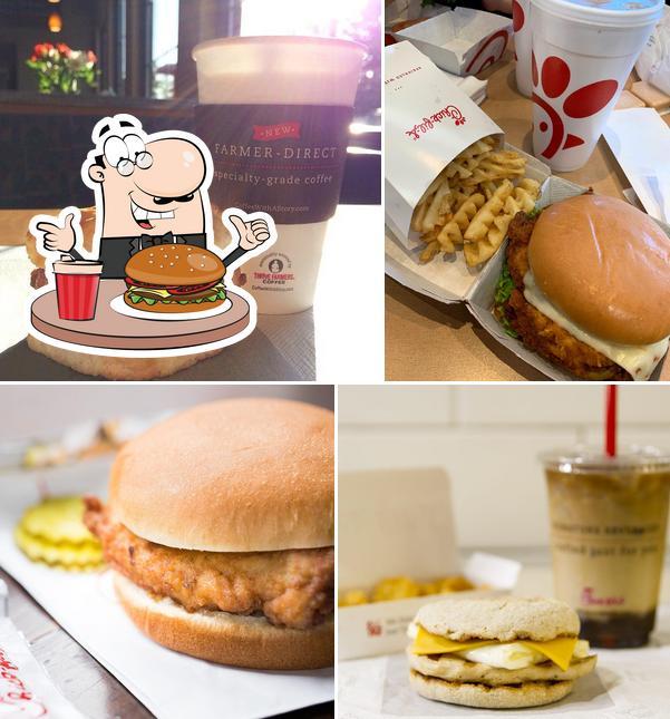Get a burger at Chick-fil-A