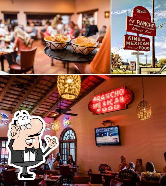 The picture of interior and exterior at Matt's El Rancho