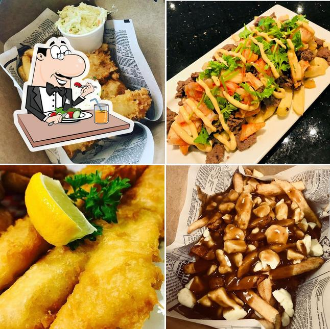 Food at Golden Fish & Chips Kortright