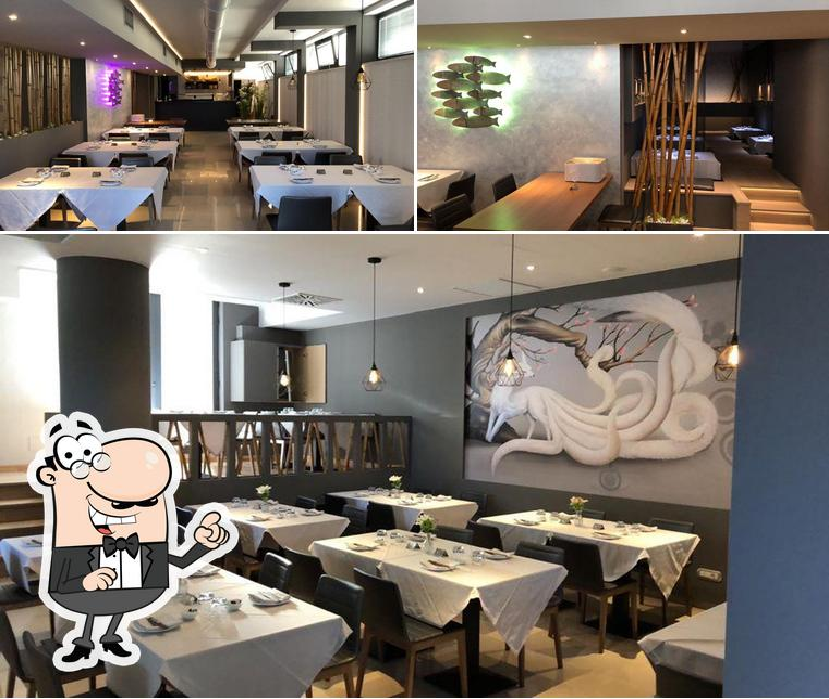 The interior of Sakana Sushi Restaurant