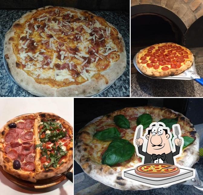 Escolha diferentes variedades de pizza