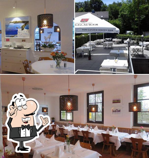 Die Inneneinrichtung von Raphael's Restaurant - griechische Küche
