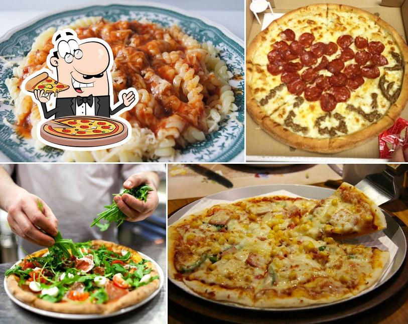 Order different kinds of pizza
