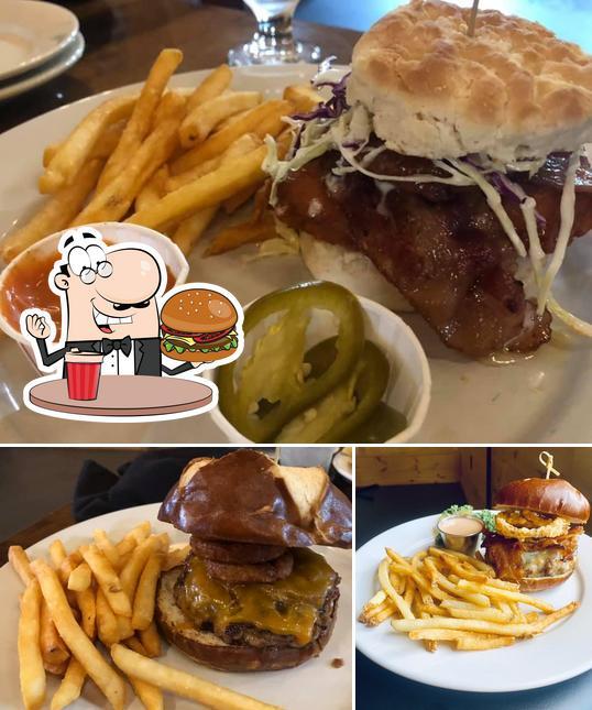 Order a burger at The Ponds Restaurant