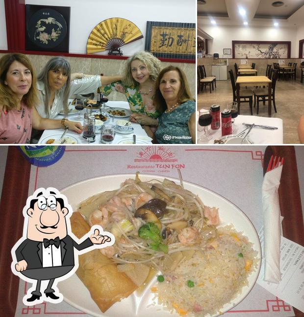 A imagem do Tun Fon's interior e comida