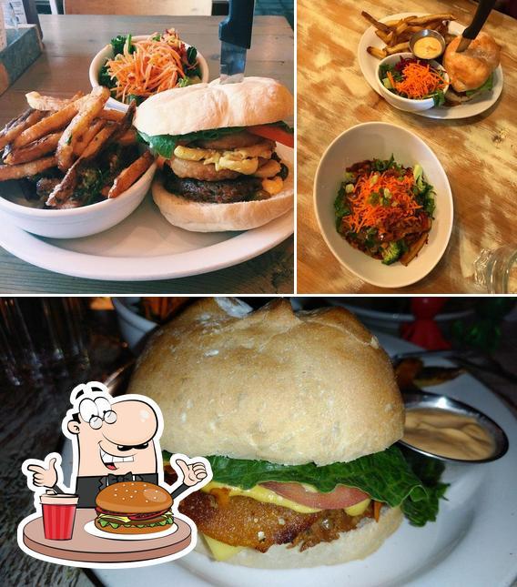 Order a burger at Meet on Main