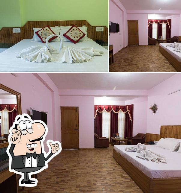 The interior of Hotel Satkar Residency Manali