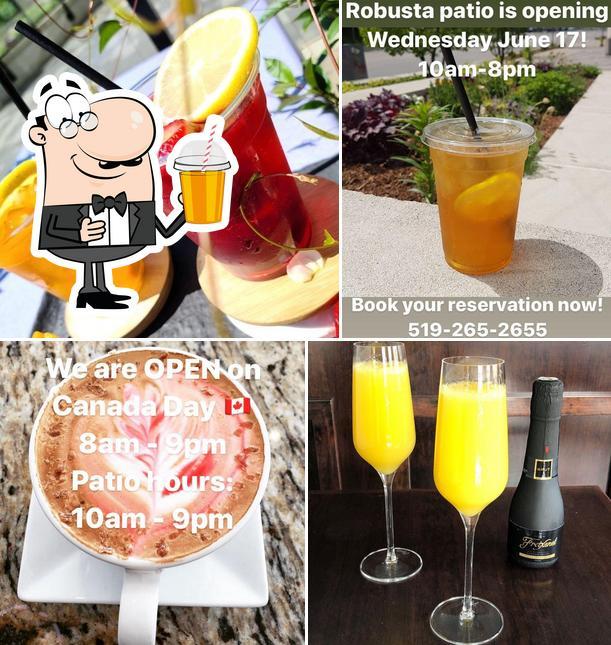 Enjoy a beverage at Robusta