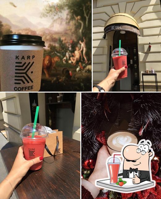 Enjoy a beverage at KARP Coffee