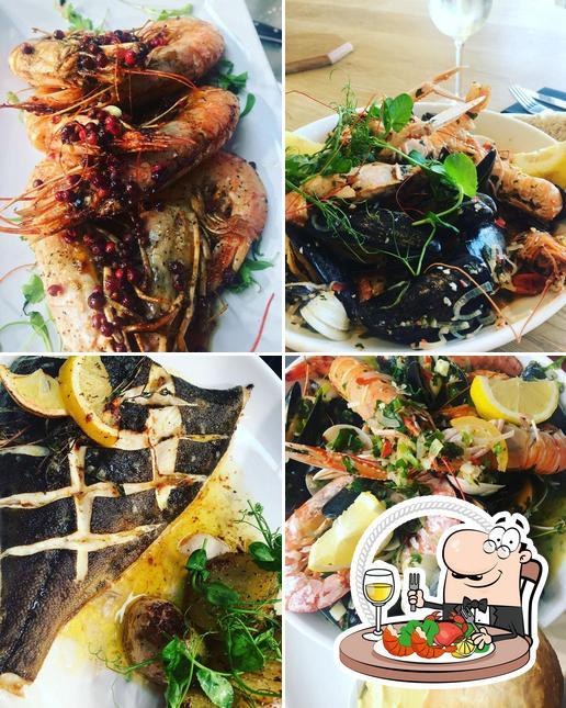 Order seafood at Oceans Restaurant