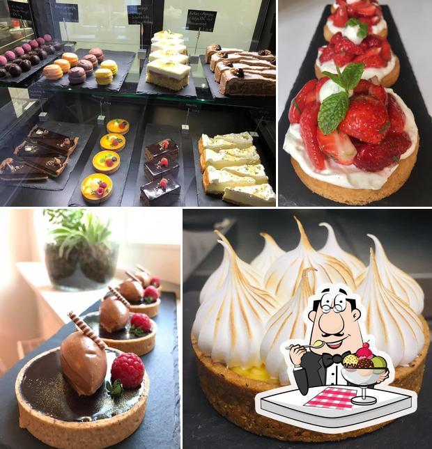 Süße Falle serviert eine Vielfalt von Desserts