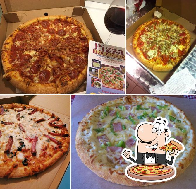 Pick pizza at Pizza Trokadero