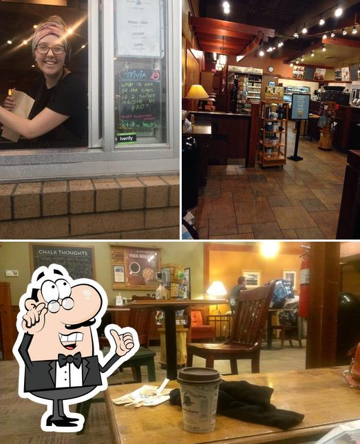 The interior of Caribou Coffee