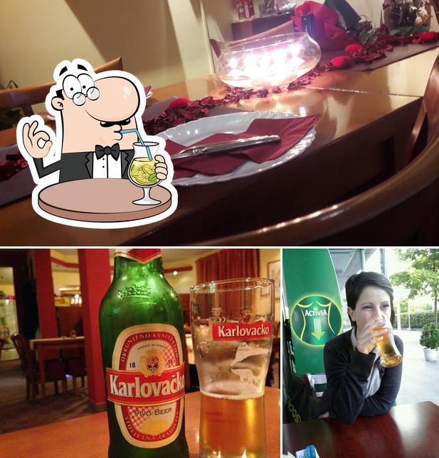 The picture of drink and interior at La Romantica
