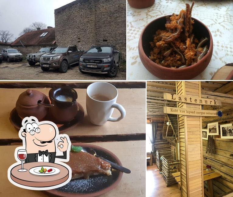 Take a look at the photo displaying food and exterior at Talumehe Kõrts