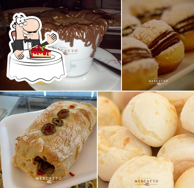 Padaria Mercatto serve uma variedade de sobremesas
