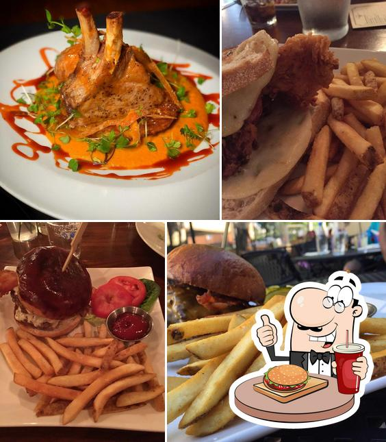 Try out a burger at Lake & Irving Restaurant & Bar