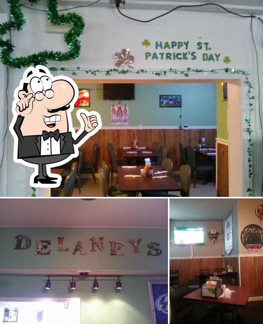 The interior of Delaney's Bar & Grill