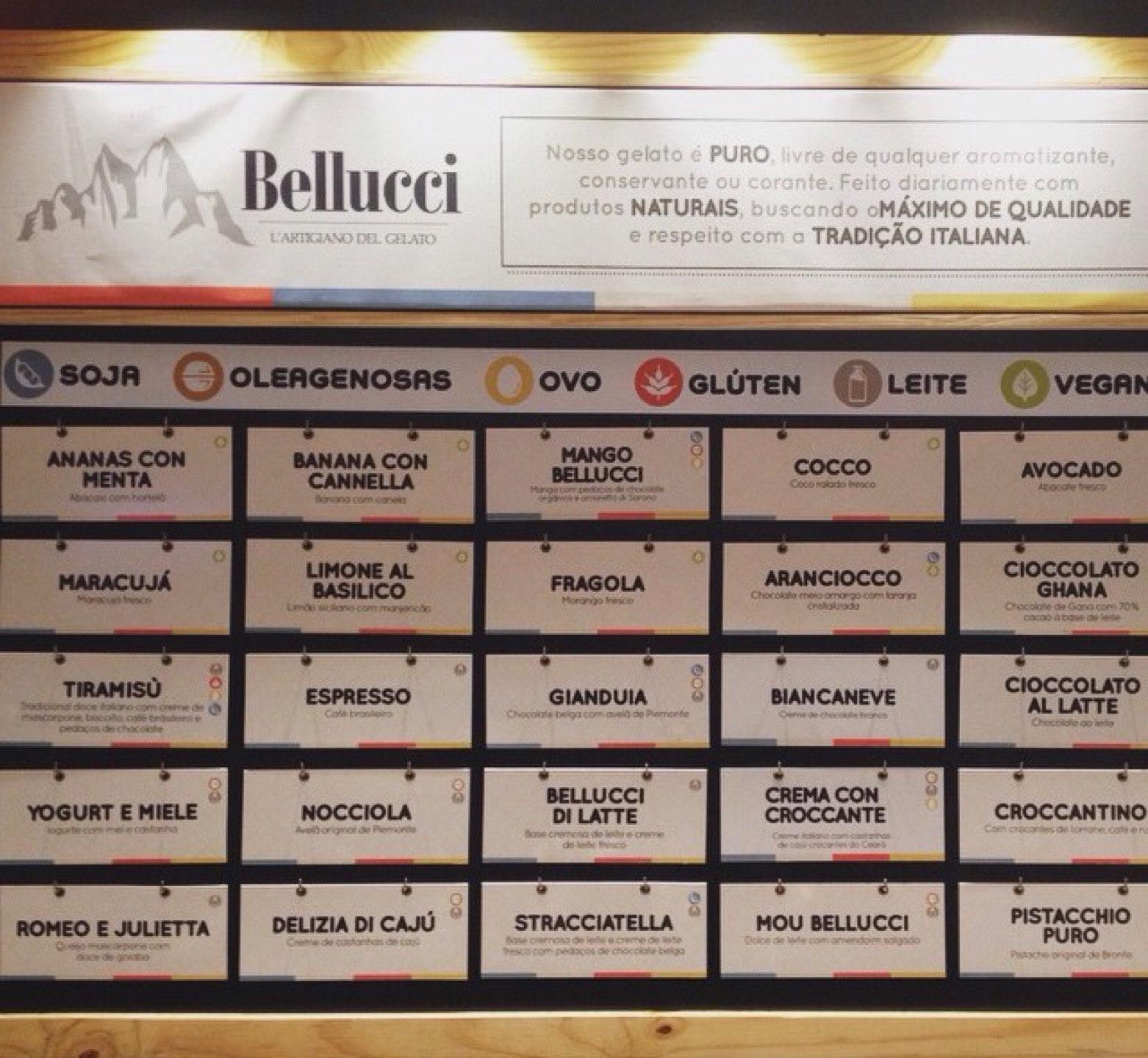 A marca do Gelateria Bellucci