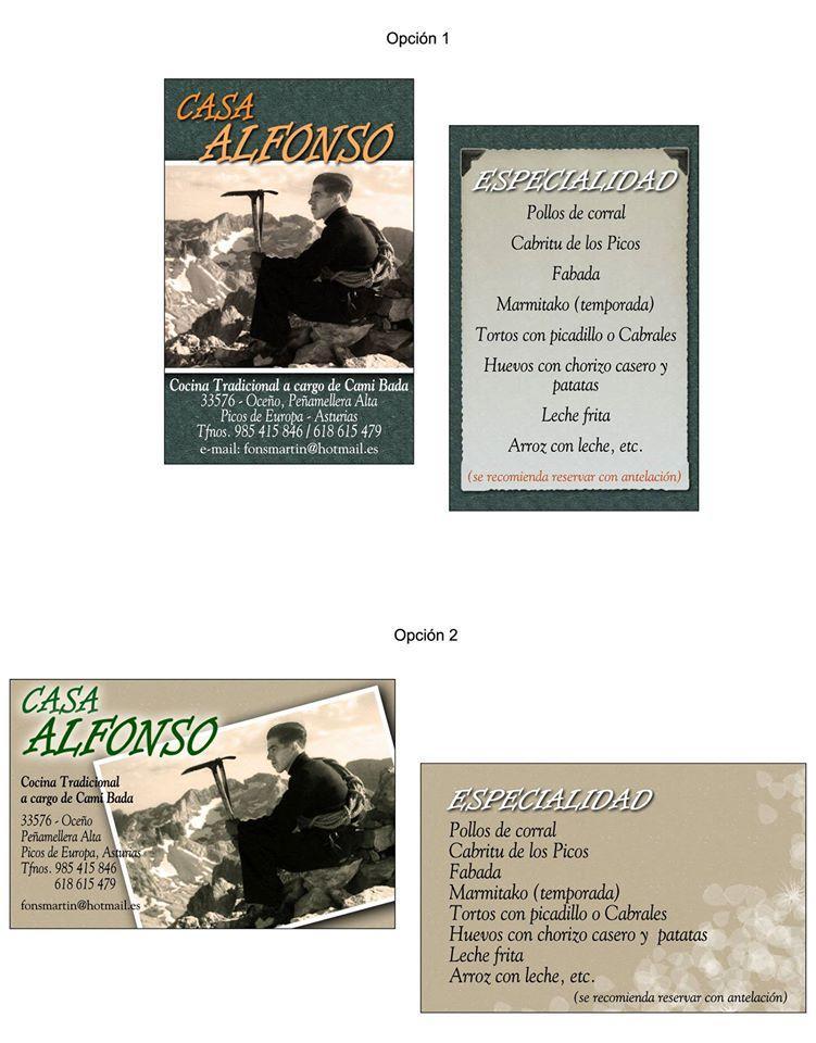 El anuncio te presenta información sobre Casa Alfonso