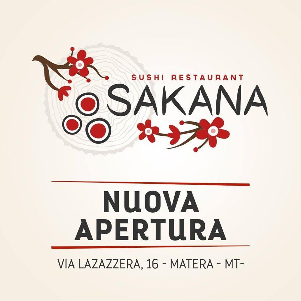 The advertisement shows information about Sakana Sushi Restaurant