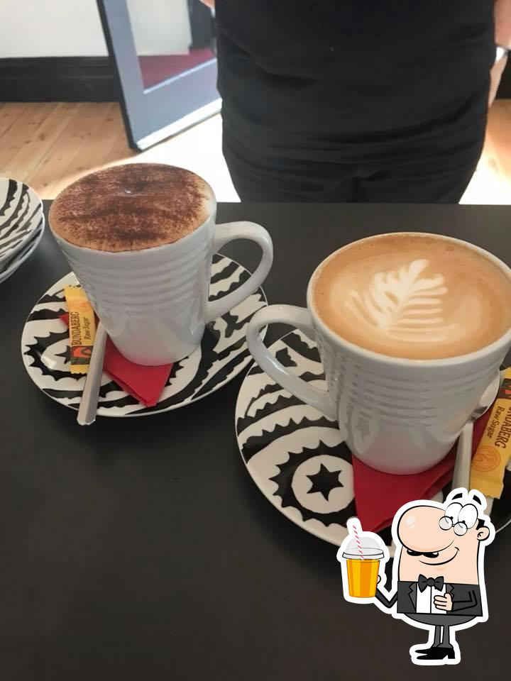 Cup-A-Cake Cafe offers a range of drinks