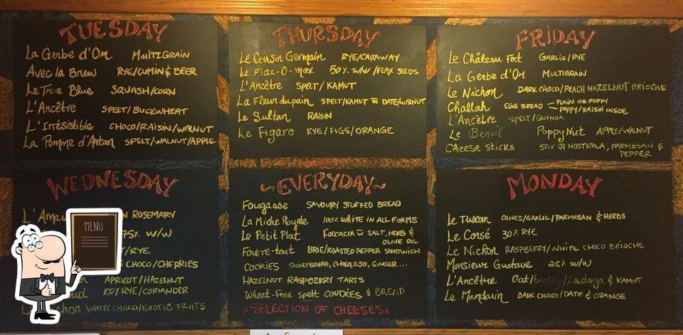 Le menu du tableau liste les options disponibles)