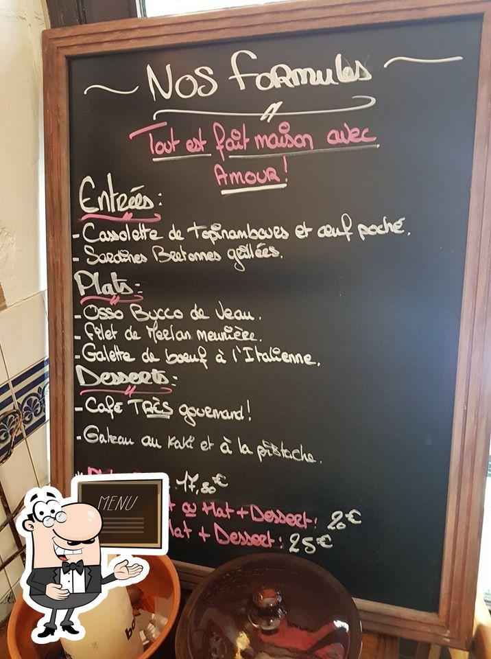 Le Coupe Gorge présente un tableau affichant le menu