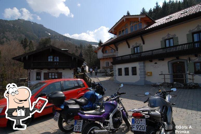 Der Außenbereich ist ein wichtiges Merkmal von Berggasthof Duftbräu