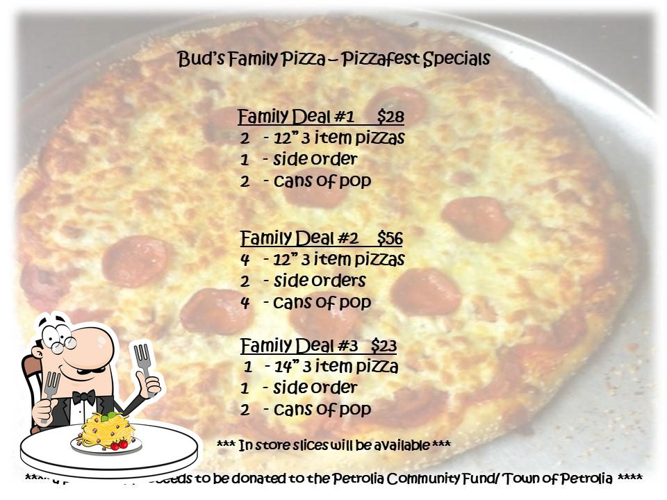 Food at Bud's Family Pizza