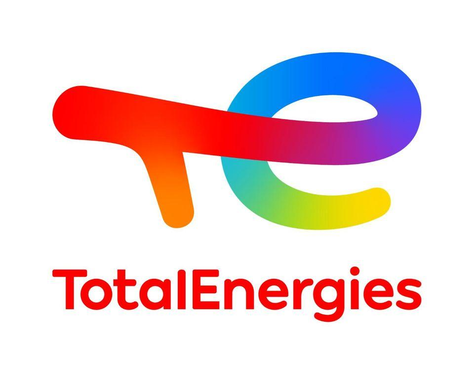 Das Logo von TotalEnergies Tankstelle