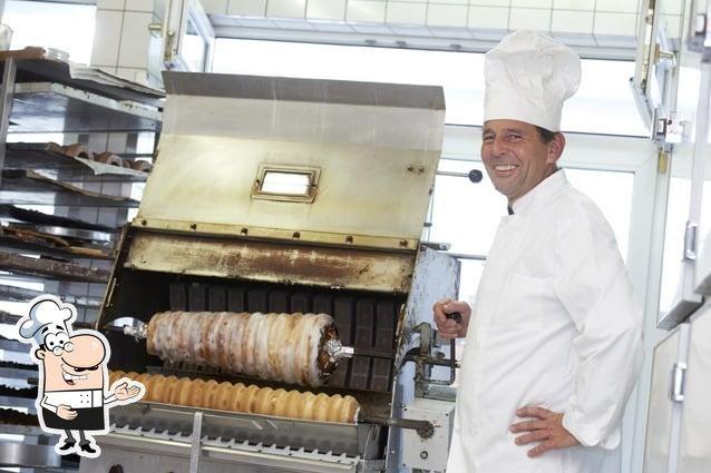 Der Chefkoch des Restaurants