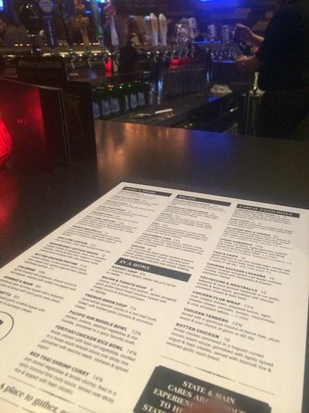 State & Main menu